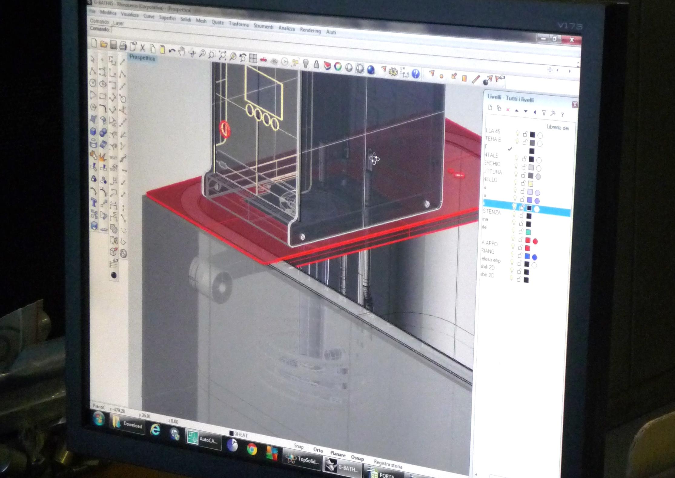 CAD 3D Galli, Design