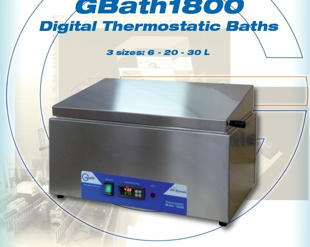 Galli Thermostatic Baths 1800, Bagno Termostatico da Laboratorio, Digitale PID, Digital PID Control