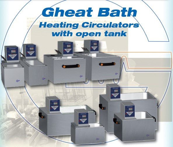Galli, Baths, GheatBath, Bagno termostatico Thermostatic Baths, Circulators, Laboratory, Laboratorio