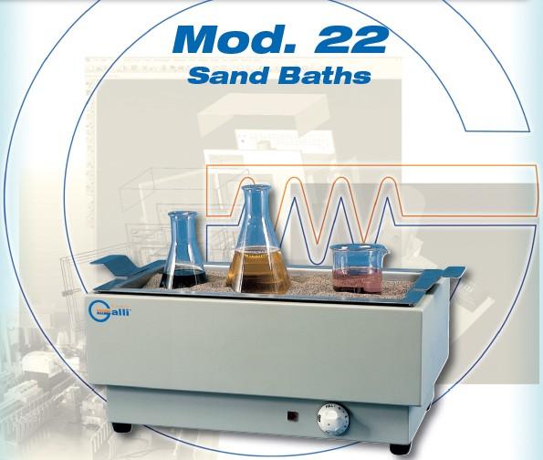 Galli-Bath-modello 22, Bagno a Sabbia, Sand Baths,, +350°C, Simmerstat, Laboratorio, Laboratory
