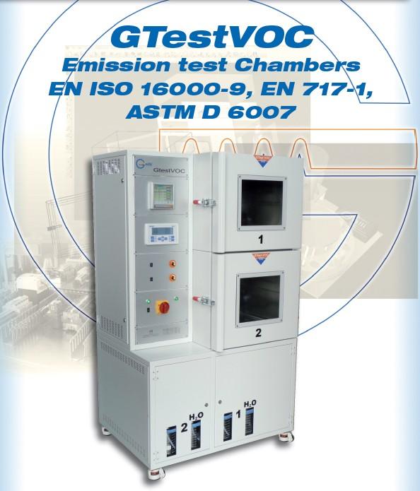 Galli-Climatic-GTestVoc-Emission Test Chambers, Camere per prove di Emissione, Sostanze Organiche volativi, VOC, Volatic Organic Compunds, Formaldheide, Formaldeide, colle, solventi, esalazioni