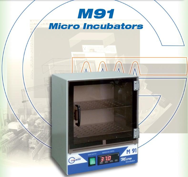 M91-Micro Incubatore-Incubators-Galli.Microbiologia-microbiology-petri-agar-slides-Termostato-Thermostat