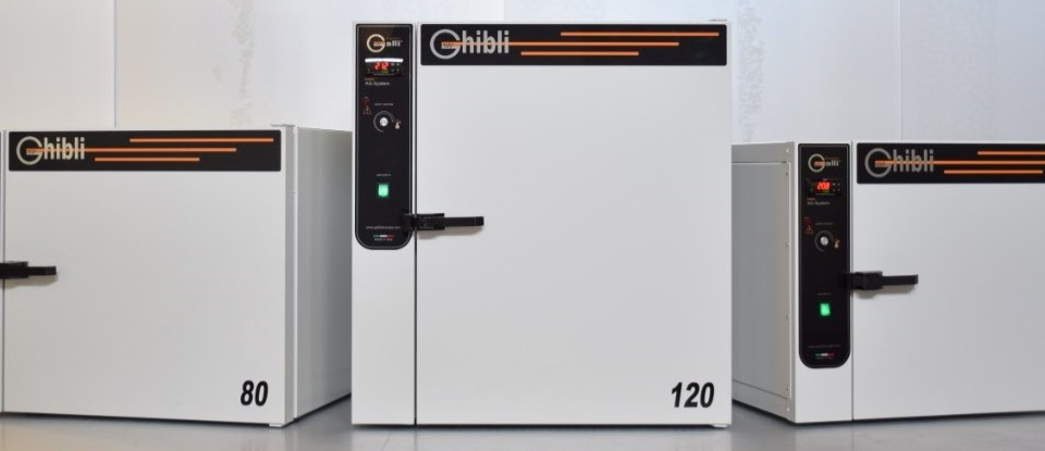 Galli, Galli, Ghibli, Laboratory Test Ovens, Natural Air, Forced Air, +300°C 50L, 80L, 120L