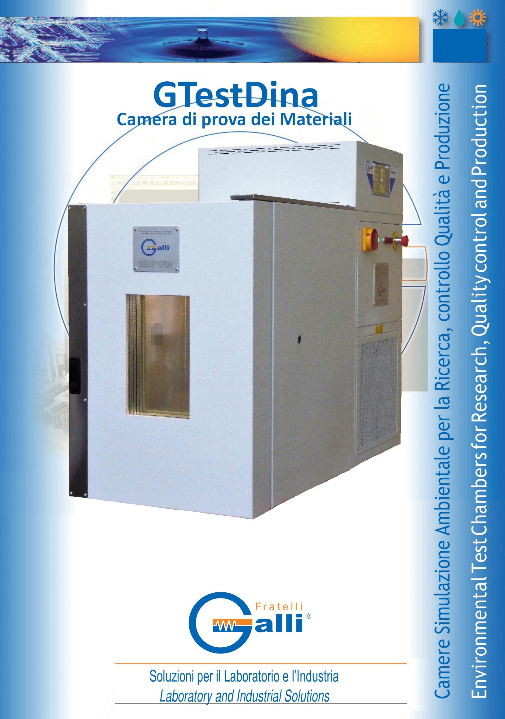 GTestDina-Camera Prove Materiali-Cella Climatica-Climatic Chamber