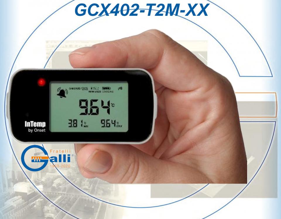 Galli-DataLogger-GCX402-T2M-XX-Monitoraggio Temperatura Frigor-Freezers-Bagni-Stufe-Incubatori-Forni