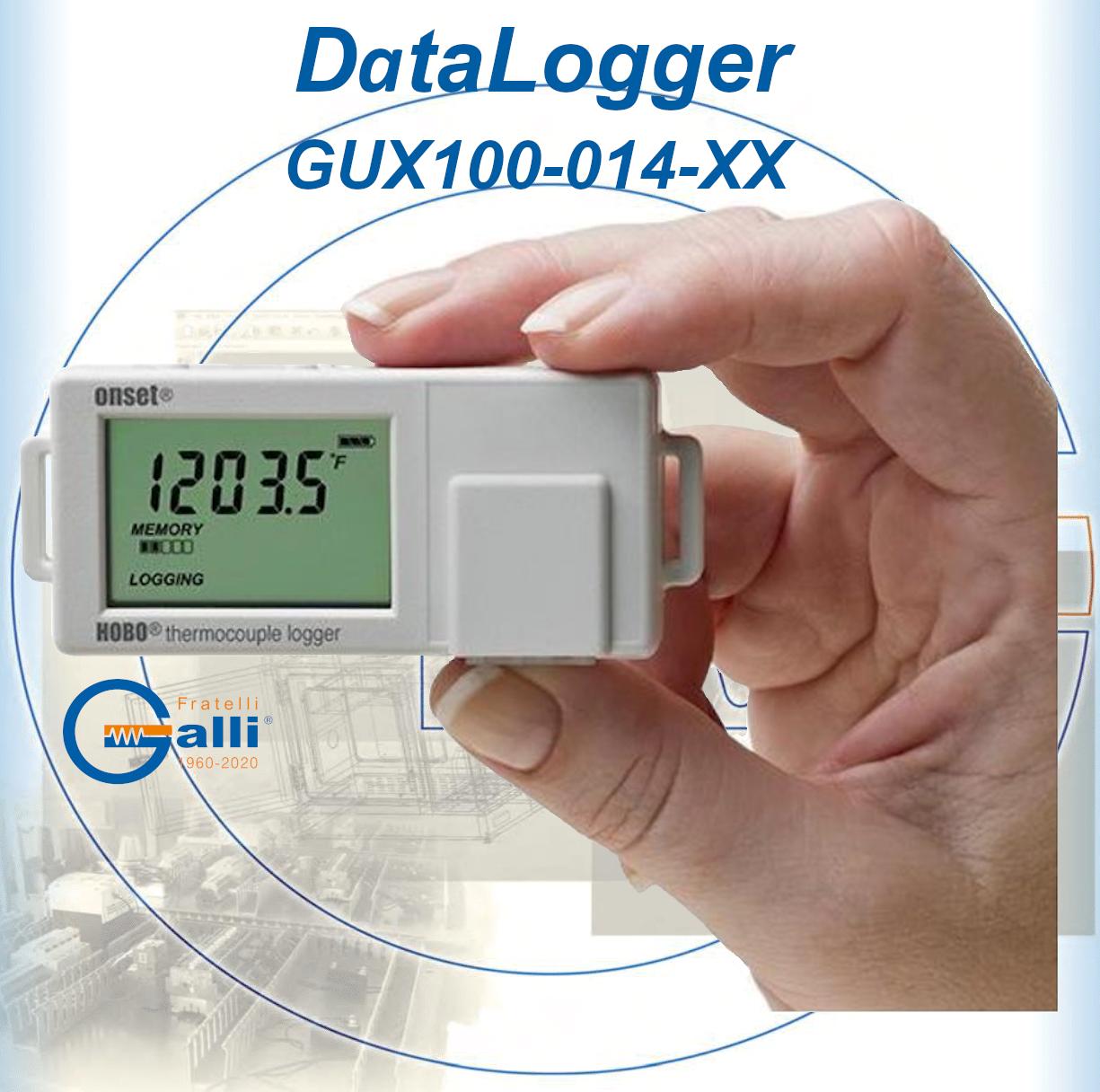 Galli-DataLogger-GUX100-014-XX-Monitoraggio Temperatura Frigor-Freezers-Bagni-Stufe-Incubatori-Forni